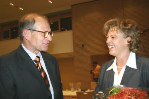 Böblingens OB Alexander Vogelgsang und Franziska Engehausen